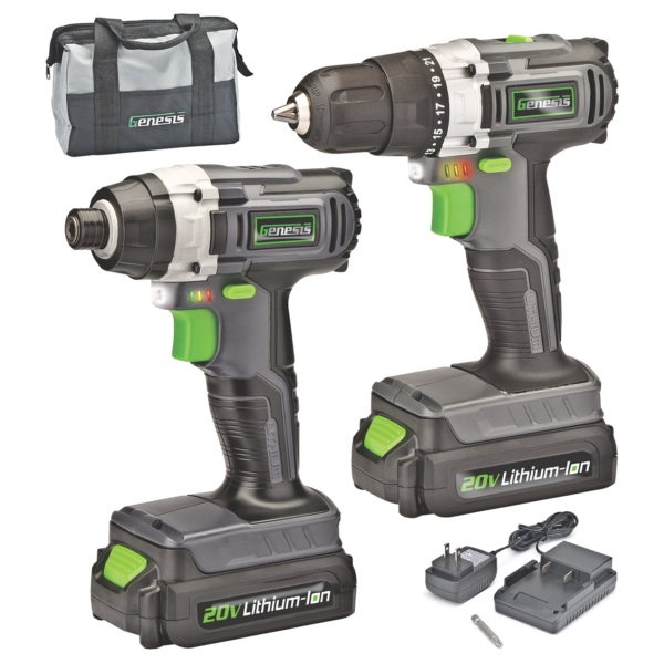 20V Lithium-Ion Drill / Impact Driver Combo Kit